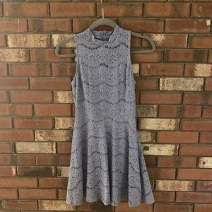 Francesca's Light Blue A-Line Dress